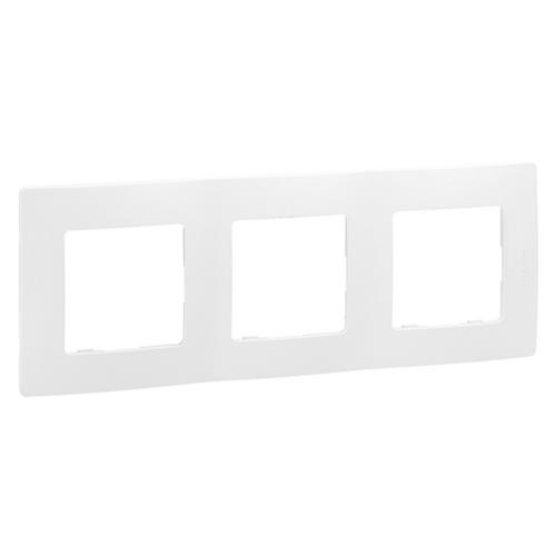 Niloé fehér 3-as keret Legrand 665003