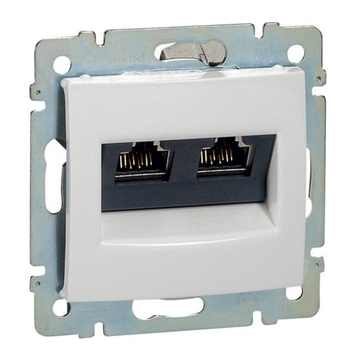 Valena fehér 2xRJ45-C6AS informatikai csatlakozó Legrand 770073
