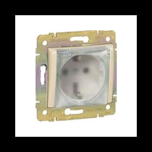Valena elefántcsont 2P+f csatlakozó aljzat, csapófedeles Legrand 774120