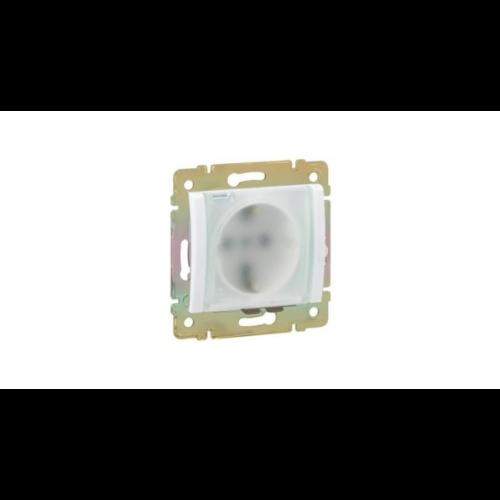 Valena fehér 2P+f csatlakozó aljzat, csapófedeles Legrand 774220