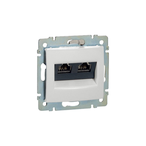 Valena fehér 2xRJ45-C5eU informatikai csatlakozó Legrand 774239