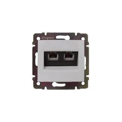 Valena fehér 2xRJ45-C6U informatikai csatlakozó Legrand 774243