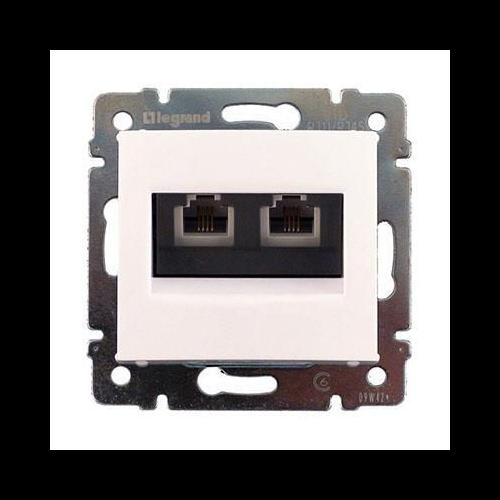 Valena fehér 2xRJ11 informatikai csatlakozó Legrand 774439