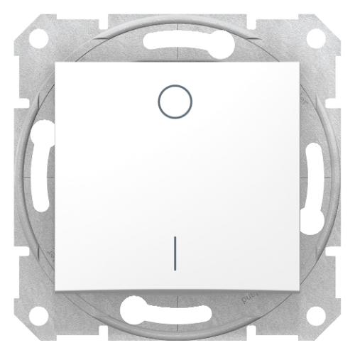 Sedna fehér kétpólusú kapcsoló (102)