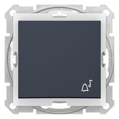 Sedna IP44 grafit egypólusú nyomógomb csengőjellel