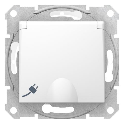 Sedna IP44 fehér 2+f dugalj, csapófedeles