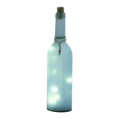 Dekorációs üveg LED füzérrel, kék GB 30/BL